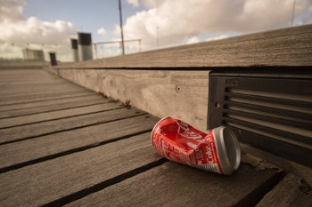 City coke can rubbish