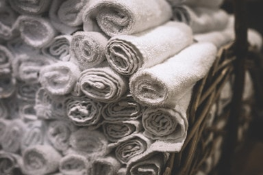 Reusable small bath towels
